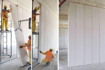 Yüksek Duvarlar için Ytong Bölme Paneli