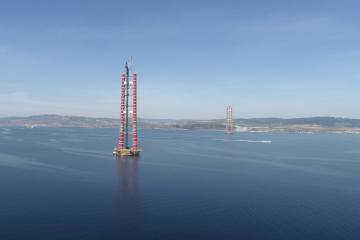 "2023 Metre Orta Açıklığıyla Dikkat Çeken ""1915Çanakkale Köprüsü"""